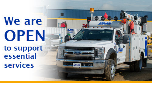 SMS Equipment is OPEN to Support Essential Services