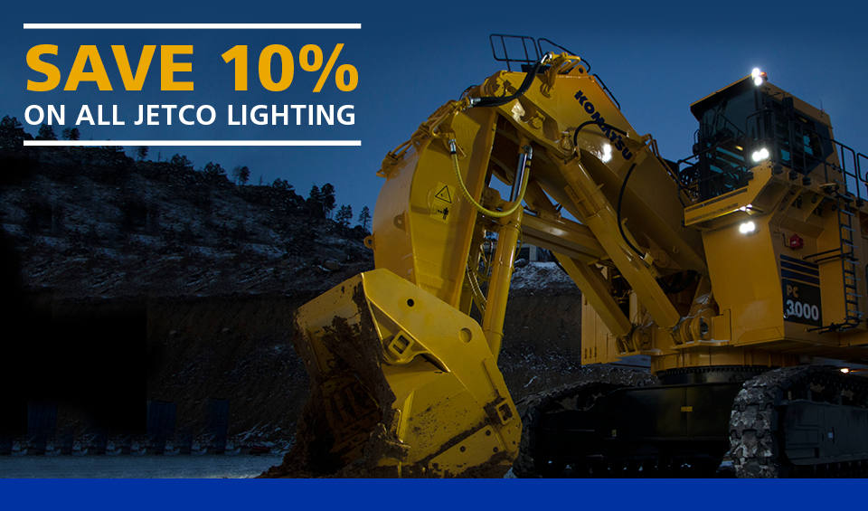Don't get caught in the dark; save 10% on Jetco Lighting