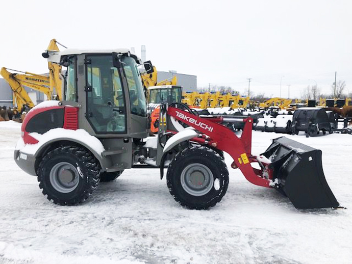 Snow removal, winter work simplified with Takeuchi TW80-2 compact wheel loader